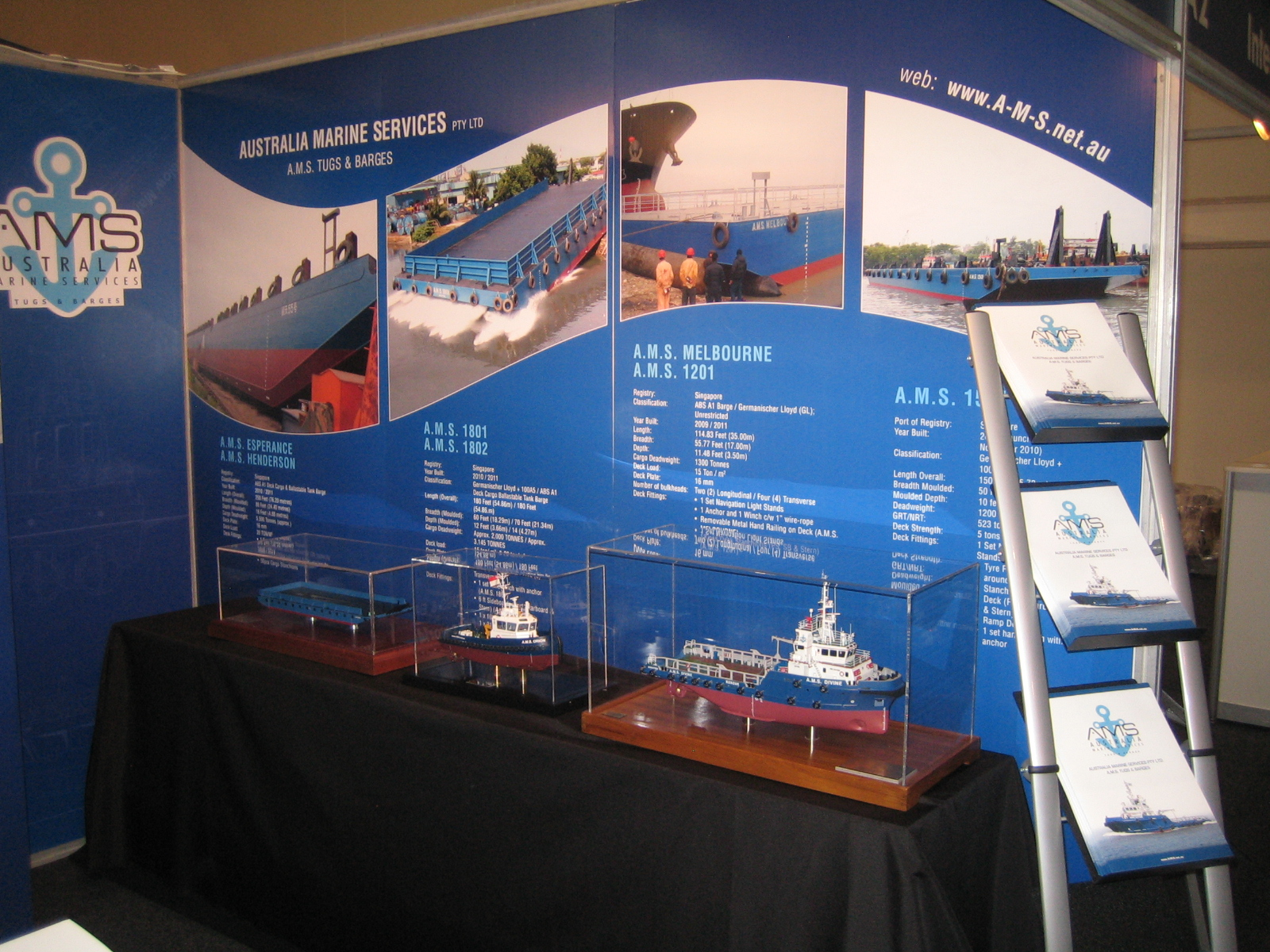 Exhibition Stand Assistant : A m s tugs and barges successful participation in aog