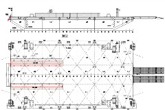 A.M.S. GLADSTONE - 210ft Deck Cargo and Ballast Tank Spud Barge under construction and committed for Australia