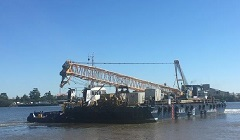 A.M.S. 1807 - AMS new build barge chartered for Samoan piling project