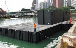Announcing A.M.S as the Australian agent for Rigifloat Modular Pontoons